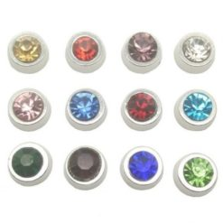 floating charms birthstone