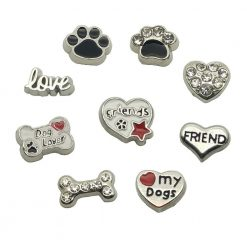 dog pet floating charms loet