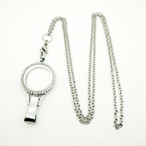 floating locket lanyard necklace