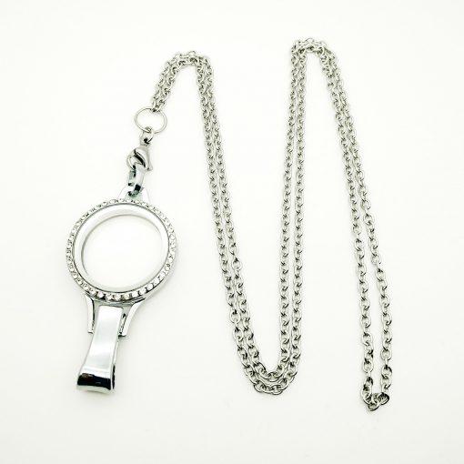 floating locket lanyard necklace