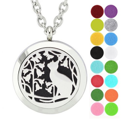 cute cat essential oil diffuser necklace