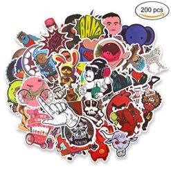 200pcs luggage skateboard stickers