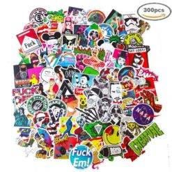 300pcs vinyl decals stickers