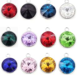 crystal swarovski style birthstone dangle
