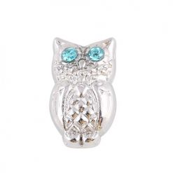cute animal owl floating charm locket necklace pendant christmas gift
