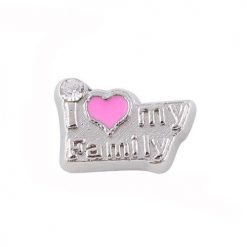 love my family floating charm mother's day christmas day gift