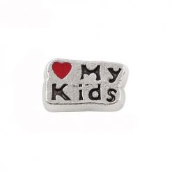 love my kids floating charm for glass locket christmas gift