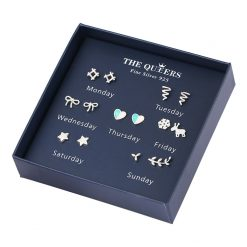 weekly earring set s925 sliver